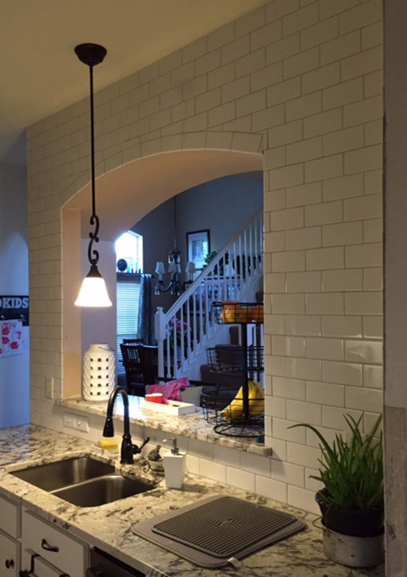 1 Kitchen tiled archway