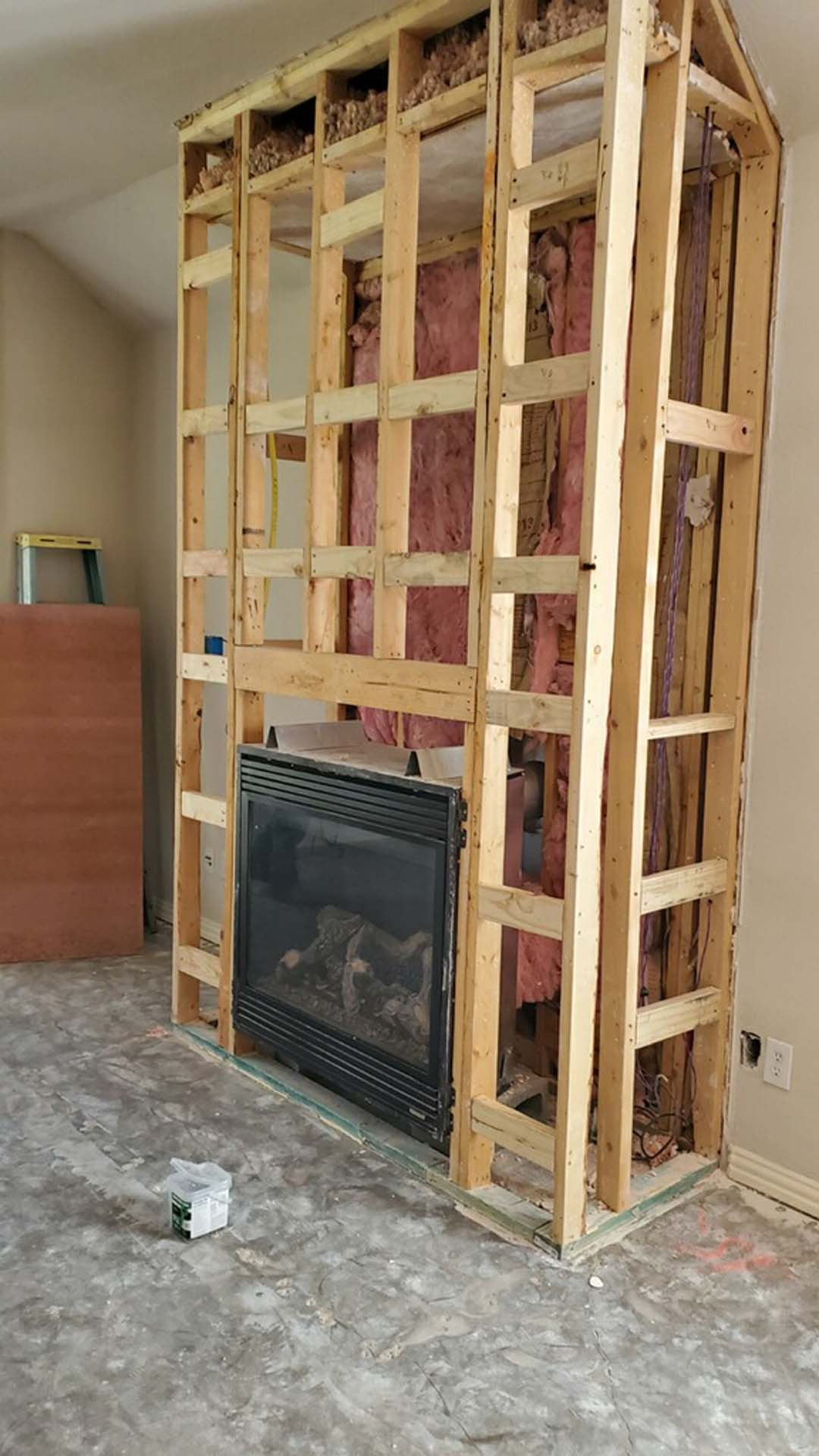 13 Before Fireplace Frame
