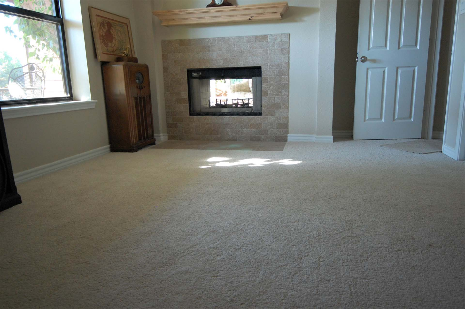 4 After Fireplace Office Carpet and Fireplace brick joint travertine