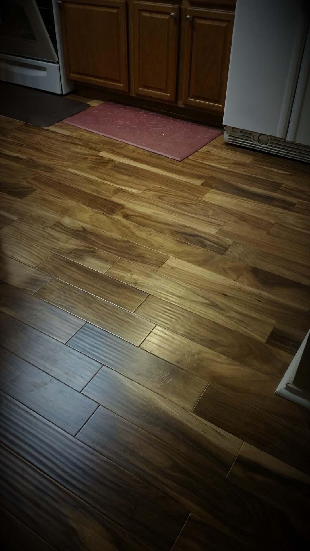 4 Wood look tile