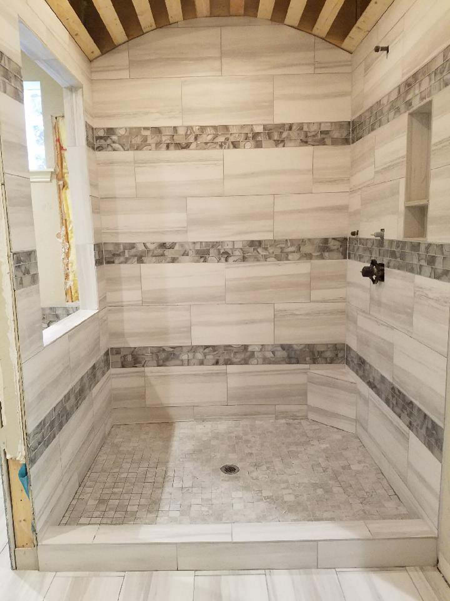 6 Designer Shower in progress