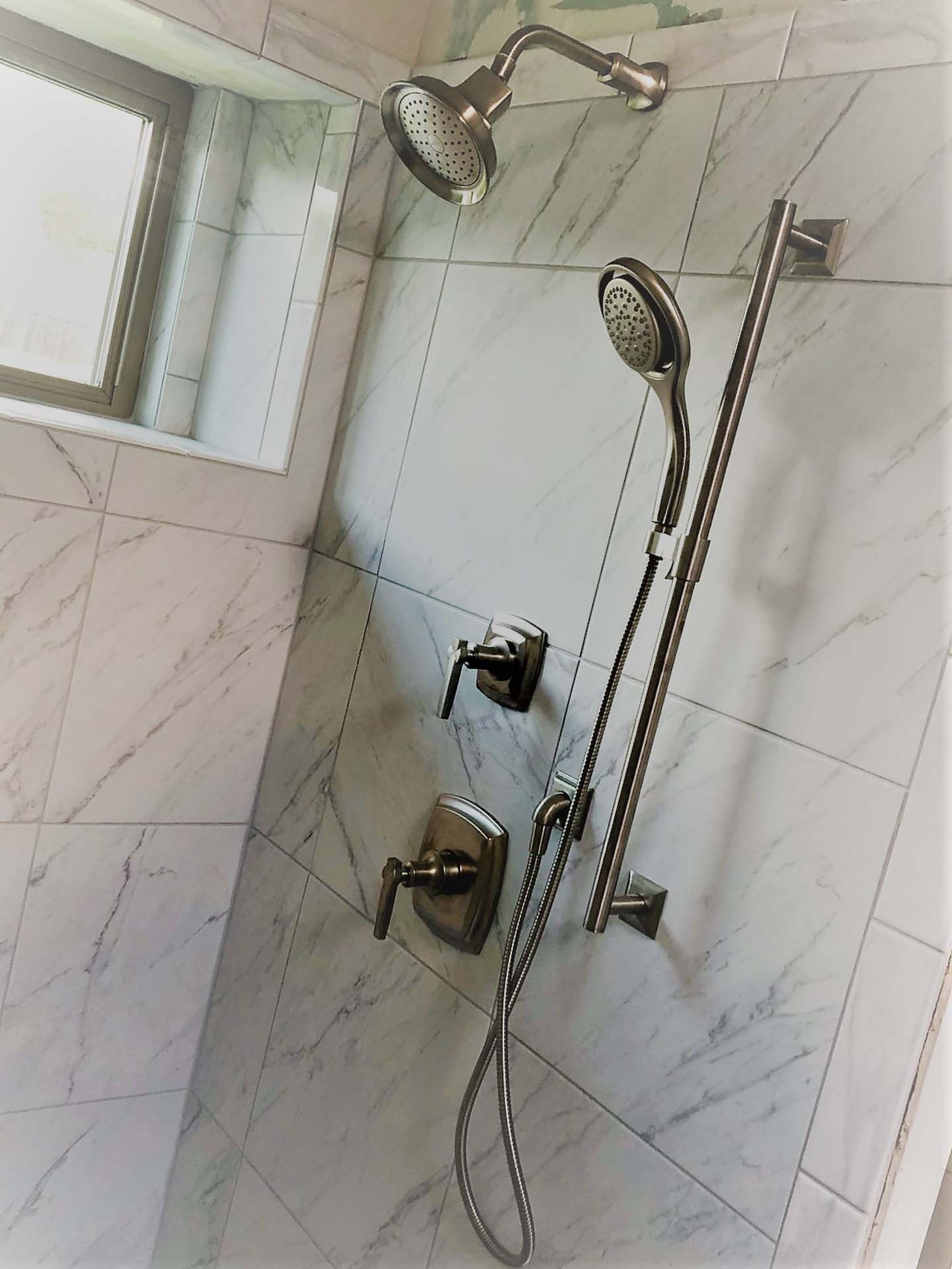 Marble and Functional Beauty shower