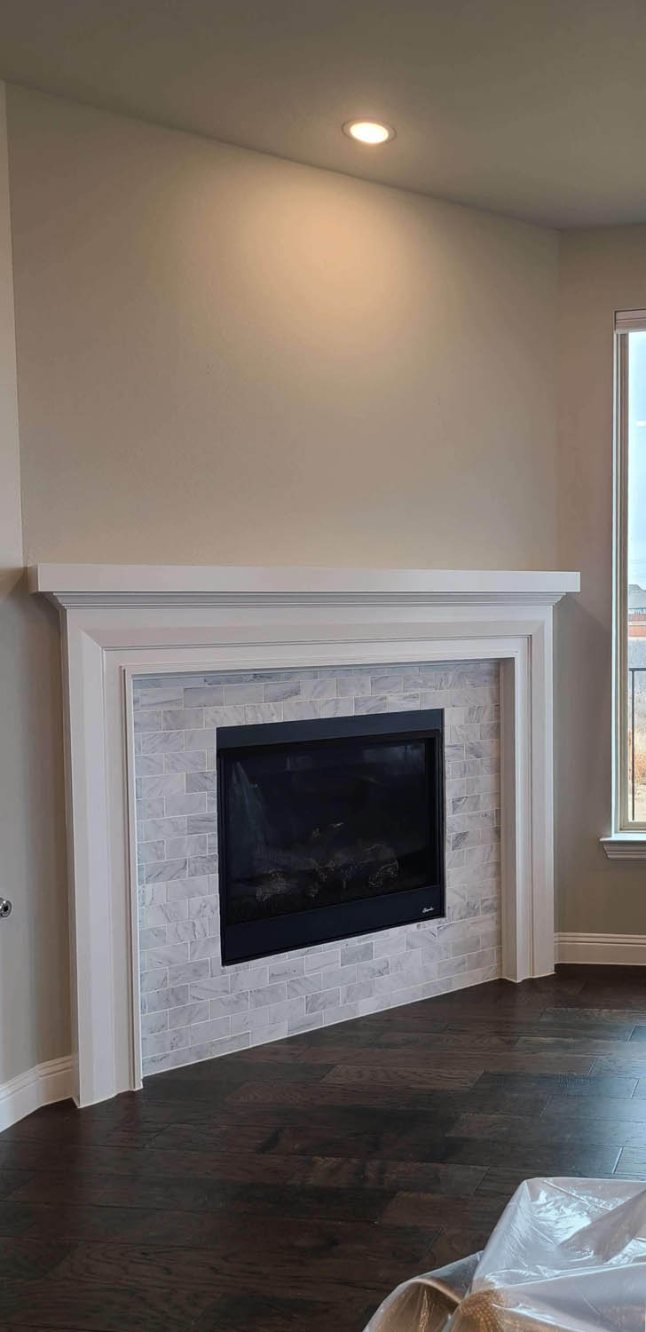 Fireplace Before Slider